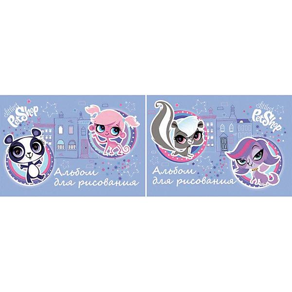 Академия групп Альбом для рисования, 40 листов, Littlest Pet Shop академия групп жесткий пенал littlest pet shop