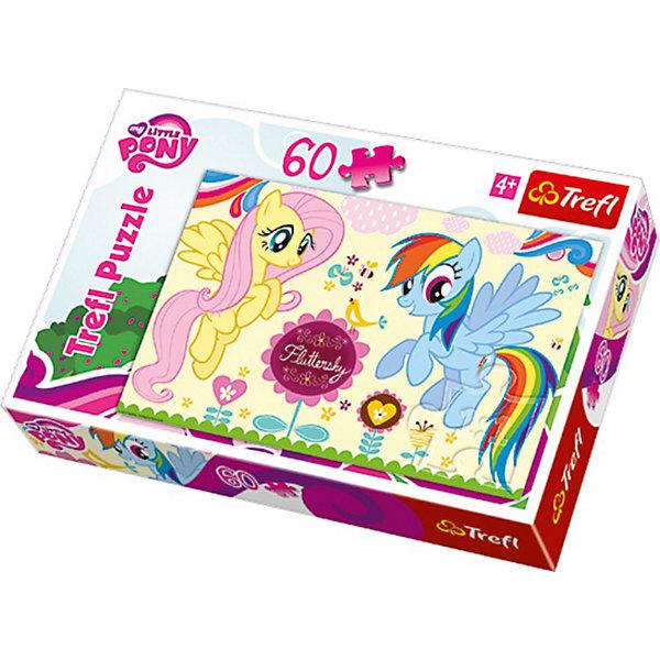 Пазл My little Pony, 60 деталей, TreflПазлы для малышей<br>Trefl — один из лучших брендов, специализирующихся на изготовлении пазлов для детей. <br>60 уникальных деталей, приятных на ощупь, складываются в красочную картинку с любимыми героями мультсериала My Little Pony (Моя маленькая Пони) / Моя маленькая пони! Детский пазл — это отличная развивающая игра, способствующая улучшению логических навыков, мелкой моторики, фантазии и воображения. Складывание пазла развивает усидчивость и внимательность, а готовую картинку можно повесить на стену детской комнаты. <br>Вашему ребенку понравится создавать своими руками красивые картинки!<br><br>Дополнительная информация:<br><br>Количество деталей: 60<br>Размер упаковки: 26 х 4 х 39 см.<br>Размер изображения: 60 х 40 см.<br><br><br><br><br>Пазл My Little Pony (Моя маленькая Пони), 60 деталей, Trefl  можно купить в нашем магазине.<br>Ширина мм: 214; Глубина мм: 142; Высота мм: 40; Вес г: 204; Возраст от месяцев: 60; Возраст до месяцев: 84; Пол: Женский; Возраст: Детский; Количество деталей: 60; SKU: 3705648;