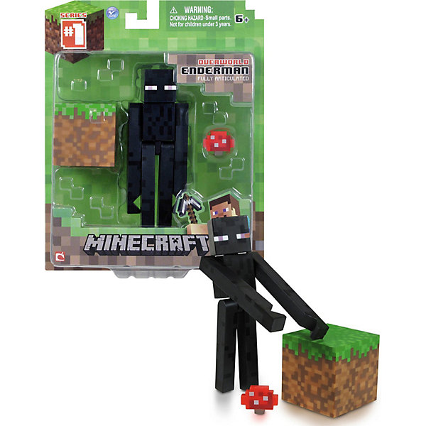 Фото - Jazwares Фигурка Эндермен, 8см, Minecraft minecraft фигурка minecraft steve with