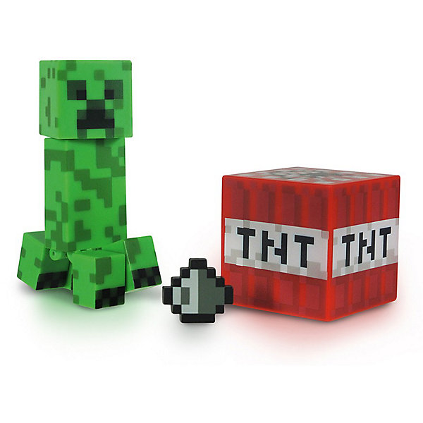 Jazwares Фигурка Крипер, 8см, Minecraft bandai фигурка minecraft mine charact box zombie 4 см