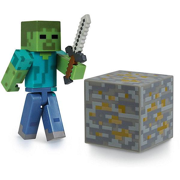 Jazwares Фигурка Зомби, 8см, Minecraft bandai фигурка minecraft mine charact box steve 4 см