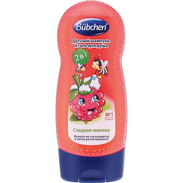 Bubchen Шампунь Bubchen для волос и тела Малина 230 мл. крем для мытья и душа свежесть алоэ 230 мл bubchen базовая серия