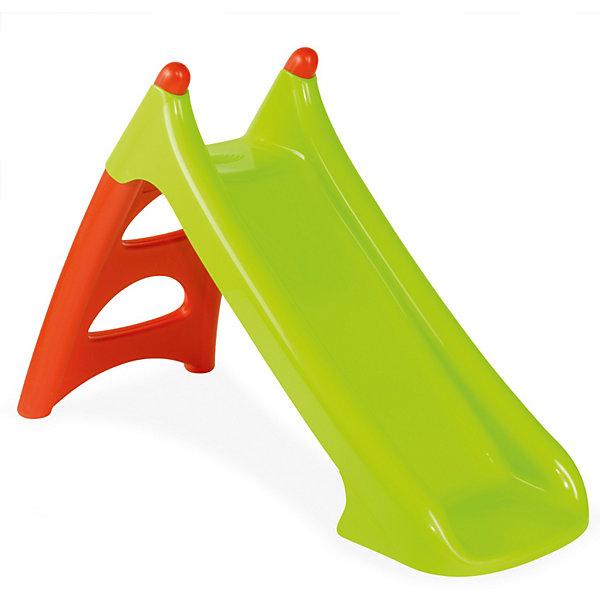 Горка Smoby XSГорки<br>Характеристики:<br><br>• возраст: от 2 лет;<br>• материал: пластик;<br>• максимальная нагрузка: 50 кг.;<br>• размер горки: 125х50х75 см;<br>• длина ската: 95 см;<br>• вес упаковки: 2,5 кг.;<br>• размер упаковки: 105х43х23 см.;<br>• страна бренда: Франция.<br><br>Горка Smoby XS подходит для установки в помещении и на улице. Горка устойчиво стоит на поверхности за счет опор и оснащена лесенкой. Горка подходит для классического скатывания, а также оснащена системой для подключения шланга с водой, чтобы получился водный аттракцион. Сделано из прочного пластика.<br><br>Горку Smoby XS можно купить в нашем интернет-магазине.<br>Ширина мм: 1035; Глубина мм: 380; Высота мм: 240; Вес г: 3600; Возраст от месяцев: 24; Возраст до месяцев: 72; Пол: Женский; Возраст: Детский; SKU: 3715689;