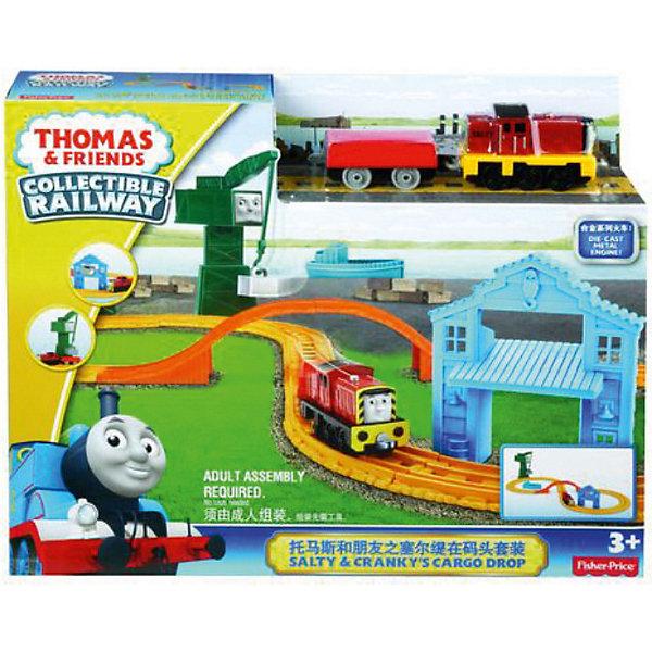 Купить Игровой набор Салти и Крэнки на причале , Томас и его друзья, Mattel, Китай, Мужской