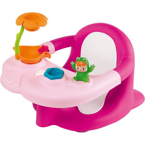 Стульчик-сидение для ванной, розовый, SmobyИгрушки для ванной<br>Характеристики:<br><br>• отодвигающаяся игровая панель;<br>• игрушки: лягушонок, ведерко, душ в виде цветка;<br>• закругленные углы;<br>• материал: пластик;<br>• размер: 49х34х26 см;<br>• размер упаковки: 52х18х35 см;<br>• вес: 1,6 кг;<br>• страна производитель: Франция.<br><br>Стульчик-сидение от Smoby сделает купание веселым и безопасным. Стульчик предназначен для детей от 6 месяцев,  умеющих сидеть. Удобное сидение поддерживает спинку малыша и предотвращает возможные падения. Стульчик не имеет острых углов, чтобы малыш не поранился во время водных процедур.<br><br>Стульчик оснащен игровой панелью. На ней расположен забавный лягушонок, ведерко и душ, выполненный в виде цветочка. Игрушки смогут занять ребенка и сделать купание еще приятнее. Панель легко отодвигается, чтобы вам было удобно доставать ребенка после водных процедур.<br><br>Стульчик-сидение для ванной, розовый, Smoby (Смоби) можно купить в нашем интернет-магазине.<br>Ширина мм: 526; Глубина мм: 358; Высота мм: 193; Вес г: 1523; Возраст от месяцев: 6; Возраст до месяцев: 2147483647; Пол: Женский; Возраст: Детский; SKU: 3725352;