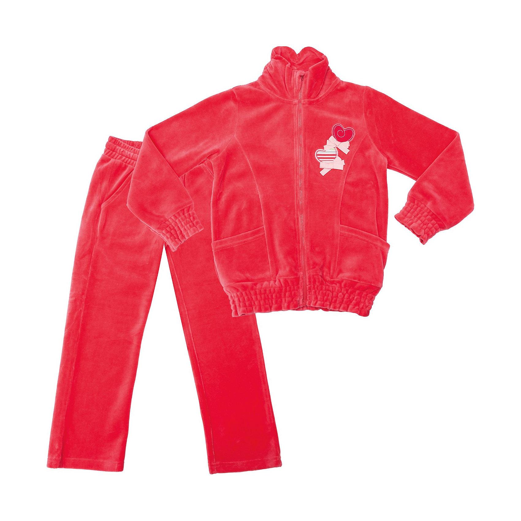 Комплект для девочки: толстовка и брюки PlayToday