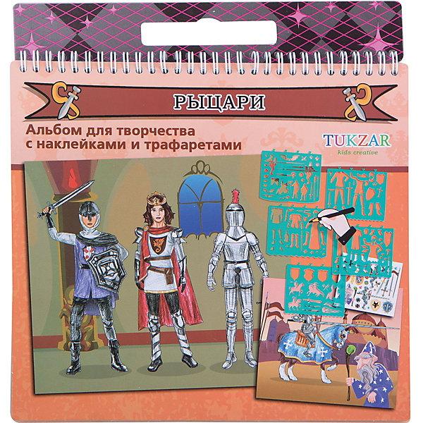 """Фотография товара альбом для творчества """"Рыцари"""" с трафаретами и наклейками, TUKZAR (3743896)"""