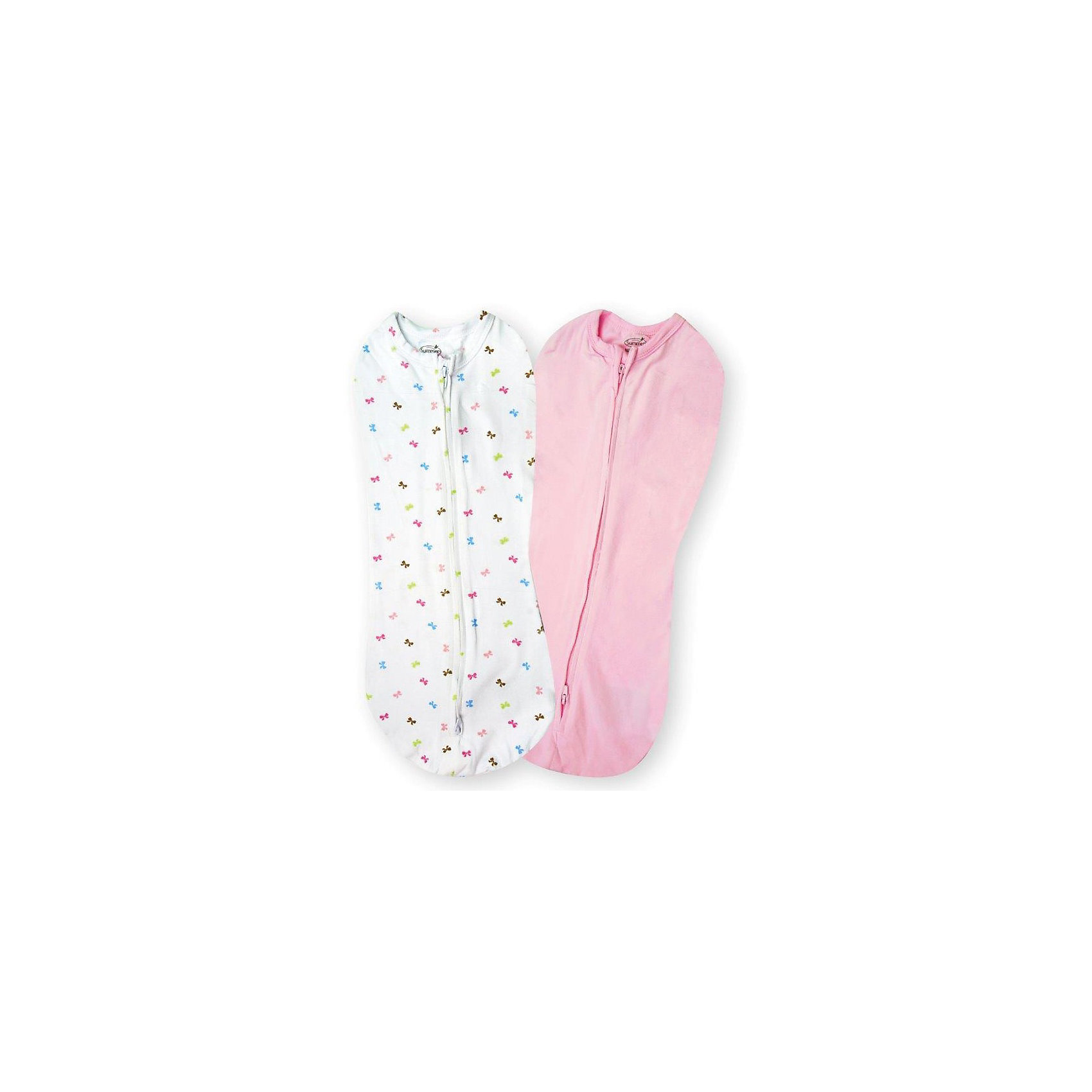 Конверт для пеленания на молнии для девочек, SWADDLEPOD, р-р S, 2-4,5 кг., 2 шт.