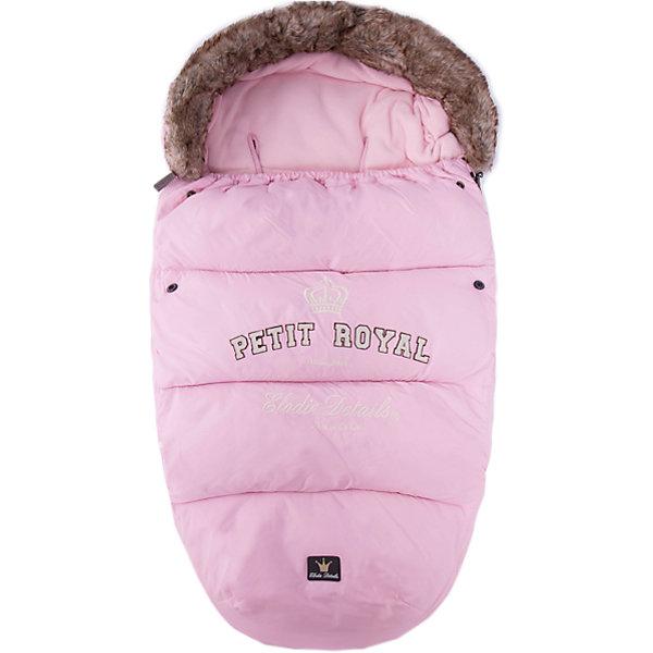 Elodie Details Конверт зимний с опушкой Petit Royal Pink, Elodie Details pink lace details v neck half sleeves irregular hem blouses