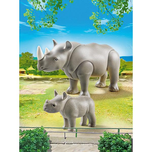 PLAYMOBIL® Зоопарк: Носорог с носорожком, PLAYMOBIL