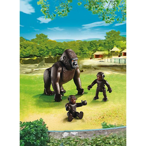 Зоопарк: Горилла со своими детенышами, PLAYMOBILПластмассовые конструкторы<br>Зоопарк: Горилла со своими детенышами, PLAYMOBIL (Плэймобил)<br><br>Характеристики:<br><br>• семья горилл<br>• подвижная голова<br>• в комплекте: большая фигурка гориллы, 2 маленькие фигурки детенышей<br>• размер упаковки: 16,9х24,6х8 см<br>• вес: 150 грамм<br>• материал: пластик<br><br>Набор от Плэймобил станет прекрасным дополнением к игрушечному зоопарку ребенка. В комплект входит большая фигурка гориллы и две маленькие фигурки детенышей. Маленькие обезьянки могут двигать конечностями. Ребенок сможет придумать интересную игру с этим милым семейством!<br><br>Зоопарк: Горилла со своими детенышами, PLAYMOBIL (Плэймобил) можно купить в нашем интернет-магазине.<br>Ширина мм: 243; Глубина мм: 164; Высота мм: 63; Вес г: 66; Возраст от месяцев: 48; Возраст до месяцев: 120; Пол: Унисекс; Возраст: Детский; SKU: 3786365;