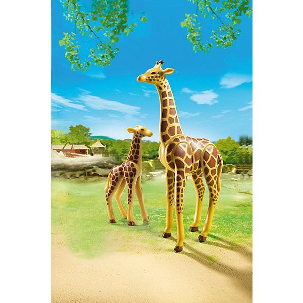 PLAYMOBIL® Зоопарк: Жираф со своим детенышем жирафом, PLAYMOBIL playmobil® playmobil 5554 парк развлечений аттракцион звездолет с огнями