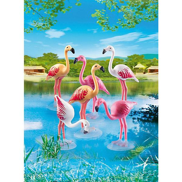 Зоопарк: Стая Фламинго, PLAYMOBILПластмассовые конструкторы<br><br>Ширина мм: 176; Глубина мм: 121; Высота мм: 38; Вес г: 33; Возраст от месяцев: 48; Возраст до месяцев: 120; Пол: Унисекс; Возраст: Детский; SKU: 3786377;