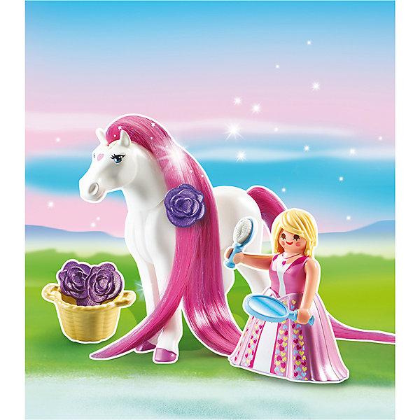 PLAYMOBIL® Принцессы: Принцесса Розали с Лошадкой, PLAYMOBIL playmobil® playmobil 4778 дополнение крестьянка с телятами