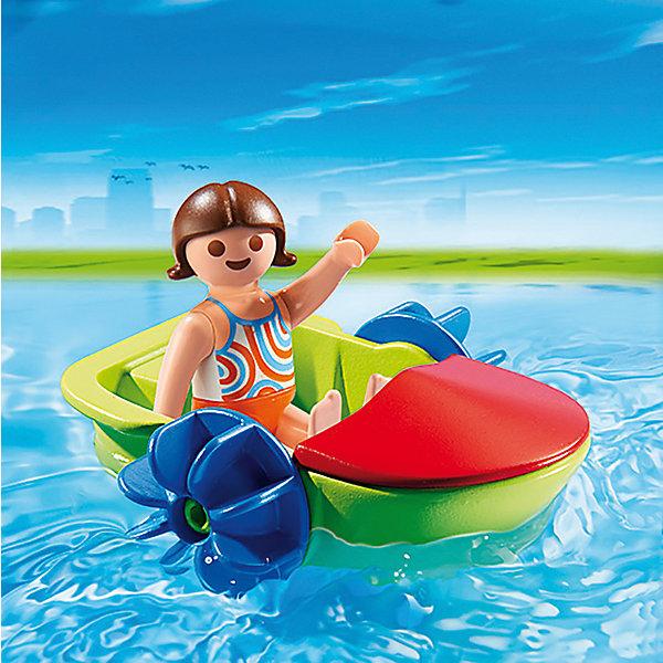 Аквапарк: Девочка в смешной лодке, PLAYMOBILПластмассовые конструкторы<br><br>Ширина мм: 97; Глубина мм: 96; Высота мм: 35; Вес г: 46; Возраст от месяцев: 48; Возраст до месяцев: 120; Пол: Унисекс; Возраст: Детский; SKU: 3786440;
