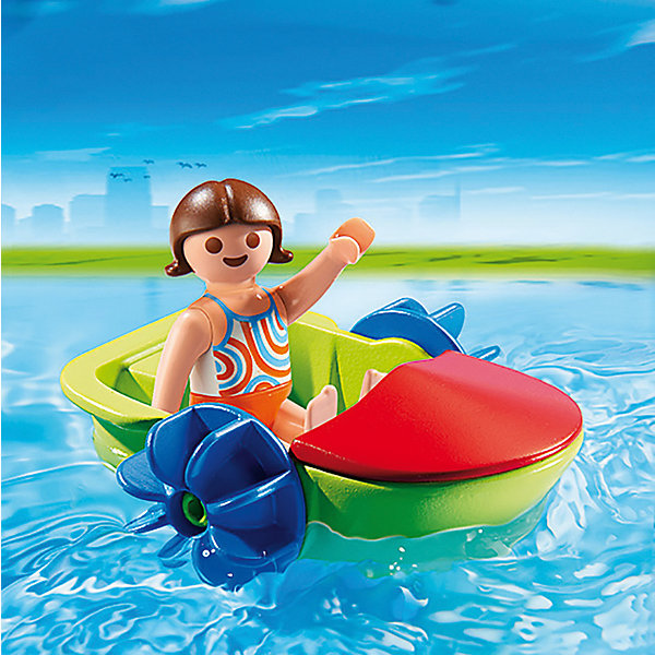 PLAYMOBIL® Аквапарк: Девочка в смешной лодке, PLAYMOBIL playmobil® playmobil 5554 парк развлечений аттракцион звездолет с огнями