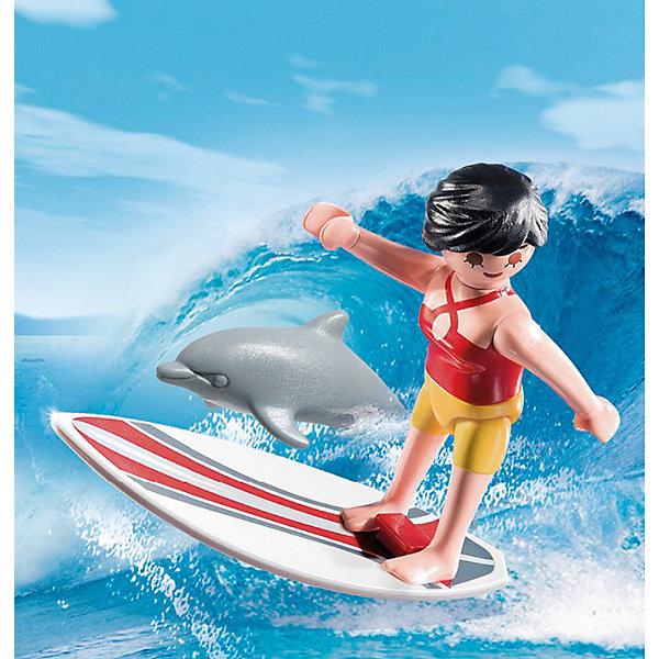 PLAYMOBIL® Экстра-набор: Сёрфингист с доской, PLAYMOBIL playmobil® дуо молодожены playmobil