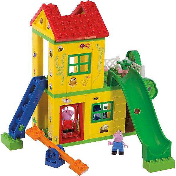 BIG Конструктор Игровая площадка, Свинка Пеппа, 75 деталей big конструктор любимый дом свинка пеппа 107 деталей