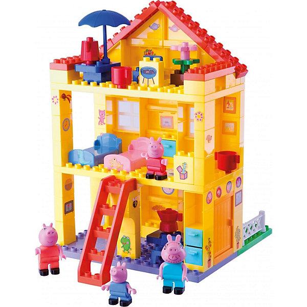 BIG Конструктор Любимый дом, Свинка Пеппа, 107 деталей big конструктор любимый дом свинка пеппа 107 деталей
