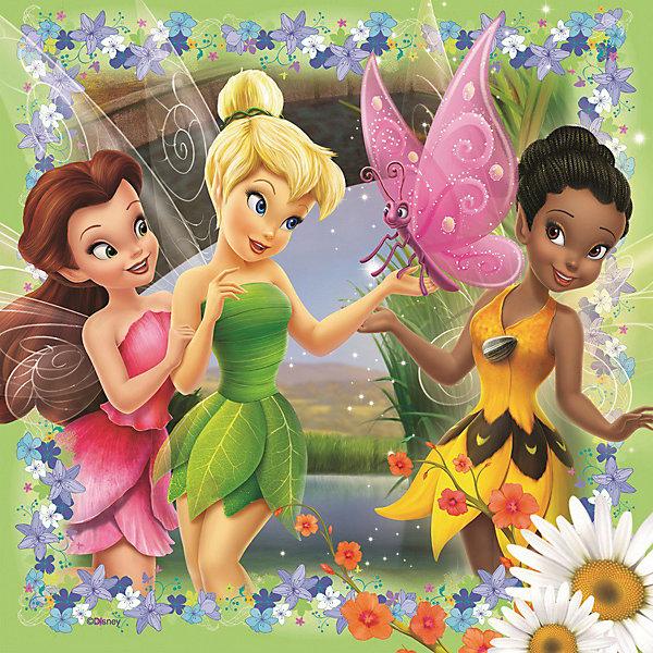 Пазл «Феи» набор из 25*36*49 деталей, RavensburgerПазлы для малышей<br>Собирать пазл «Феи» от Ravensburger (Равенсбургер) - это просто праздник для девочки. Феи Диснея (Disney) олицетворение красоты, нежности и доброты! Раньше малышка могла наблюдать за приключениями любимых героинь только с экрана, теперь может собрать картинки из их жизни у себя дома. В замечательном наборе 3 пазла. На них изображены феи в своих прекрасных нарядах. Картинки крупные и яркие, поэтому девочка будет с удовольствием собирать их снова и снова! Картинки получаются настолько яркими и привлекательными, что их можно использовать, как украшение комнаты, стоит только наклеить пазлы на картон. Вас порадует, что плотный картон, из которого состоит пазл не мнется во время сборки, яркая картинка защищена от расслаивания, благодаря чему такой пазл способен служить долгое время.<br>Набор пазлов Феи от Ravensburger (Равенсбургер) - это полезное и увлекательное занятие для всей семьи!<br> <br>Дополнительная информация:<br><br>- Набор из 3 пазлов;<br>- Развивает моторику и внимание;<br>- Прекрасный подарок любительнице мультфильмов Диснея (Disney);<br>- Матовая поверхность исключает отблески;<br>- Очень качественные элементы не расслаиваются;<br>- Материал: картон;<br>- Размер готовой картинки: 18 х 18 см;<br>- Размер упаковки: 22 х 22 х 7 см;<br>- Вес: 325 г<br><br>Пазл «Феи» набор из 25*36*49 деталей, Ravensburger (Равенсбургер) можно купить в нашем интернет-магазине.<br>Ширина мм: 220; Глубина мм: 220; Высота мм: 70; Вес г: 315; Возраст от месяцев: 48; Возраст до месяцев: 84; Пол: Унисекс; Возраст: Детский; Количество деталей: 25; SKU: 3787602;