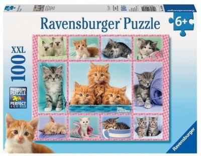 Пазл «Забавные котята», 100 деталей, Ravensburger, артикул:3787604 - Пазлы