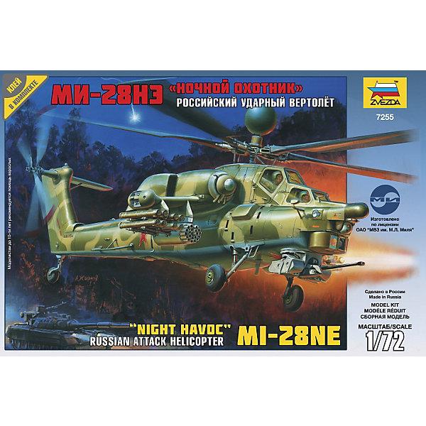 Сборная модель Вертолет Ми-28Н, ЗвездаСамолёты и вертолёты<br>Сборка моделей вертолетов – весьма увлекательное и полезное занятие, которое приобретает все больше поклонников как среди детей, так и среди взрослых. Детям младшего возраста модели вертолетов для склеивания помогут развить моторику рук, привить внимание к деталям, усидчивость и терпение. Представляем Вашему вниманию сборную модель «Вертолет Ми-28Н»! После окончания сборки Вы получите реалистичную и очень детализированную модель ударного боевого вертолета. Вертолет Ми-28Н предназначен для ведения боевых действий ночью или при неблагоприятных погодных условиях. Первый полет вертолет совершил в ноябре 1996 года. У этой модификации машины лопасти полностью изготовлены из композитных материалов и выдерживают попадание 30-мм снарядов. На вертолете установлено новое электронное оборудование управления боевыми действиями. Для ночных полетов экипаж оснащен приборами ночного виденья. Соберите Вертолет Ми-28Н для своей коллекции!<br><br>Дополнительная информация:<br><br>- В комплекте : 81 деталь и инструкция по сборке;<br>- Масштаб: 1:72;<br>- Прекрасный экспонат для коллекции;<br>- Реалистичная модель;<br>- Длина модели: 24 см;<br>- Размер упаковки: 20,5 х 30,5 х 5 см.<br><br>Сборную модель Вертолет Ми-28Н, Звезда можно купить в нашем интернет-магазине.<br>Ширина мм: 304; Глубина мм: 50; Высота мм: 205; Вес г: 255; Возраст от месяцев: 84; Возраст до месяцев: 168; Пол: Мужской; Возраст: Детский; SKU: 3789488;