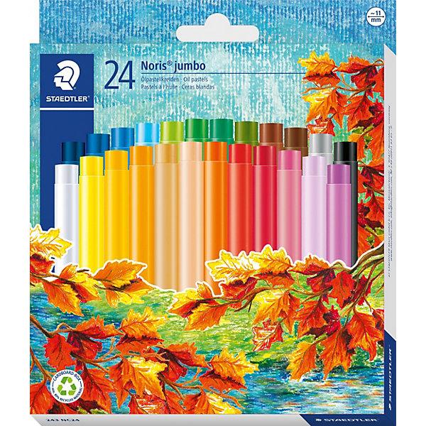 Staedtler Пастель масляная Noris Club Jumbo, 24 цвета все цены