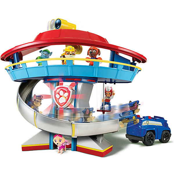 Большой игровой набор Офис спасателей, Щенячий патруль, Spin MasterИгрушки<br>Характеристики:<br><br>- Комплектация: офис спасателей, фигурка щенка Гонщика, полицейская машина.<br>- Звуковые и световые эффекты<br>- Высота офиса спасателей: 50 см.<br>- Материал: пластик.<br>- Работает от 3 батареек АА (не входят в комплект).<br><br>ВНИМАНИЕ! В комплекте только 1 фигурка щенка-полицейского Чейза и 1 полицейская машинка. Все остальные фигурки и машинки приобретаются отдельно.<br><br>Любой юный поклонник мультфильма Paw Patrol (Щенячий патруль) мечтает побывать в знаменитом офисе спасателей, который упоминается в каждой серии. Теперь такая возможность появилась!<br>В данный набор входит офис спасателей, в котором есть горка и спусковой столб для быстрого спуска, лифт и перископ, а также полицейская машина и фигурка щенка-полицейского. При нажатии на кнопку в основании офиса, активируются звуковые и световые эффекты. А перископ действительно работает, как настоящий! Окунись в атмосферу приключений, проигрывай любимые сцены из мультсериала или придумывай свои новые истории. Набор прекрасно детализирован, все части выполнены из высококачественных прочных материалов безопасных для детей. <br><br>Большой игровой набор Офис спасателей, Щенячий патруль, Spin Master (Спин Мастер) можно купить в нашем магазине.<br>Ширина мм: 511; Глубина мм: 327; Высота мм: 157; Вес г: 1739; Возраст от месяцев: 36; Возраст до месяцев: 60; Пол: Мужской; Возраст: Детский; SKU: 3799122;