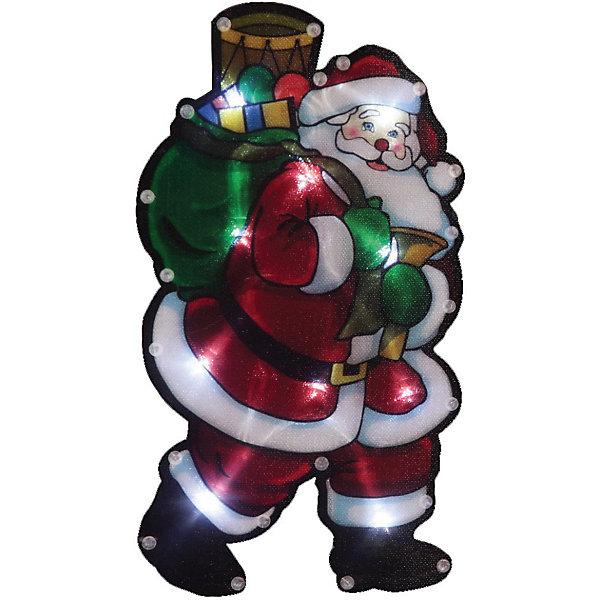 Волшебная страна Световое панно «Дед мороз с мешком подарков» (35 ламп, 45х58 см),