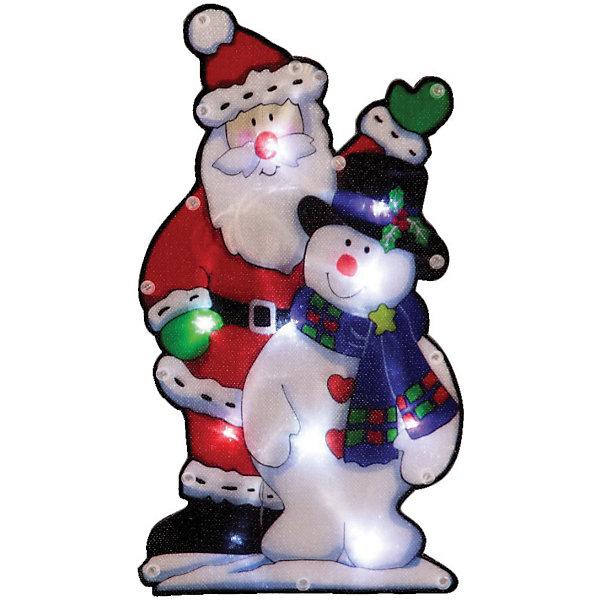 Световое панно «Дед мороз и снеговик»