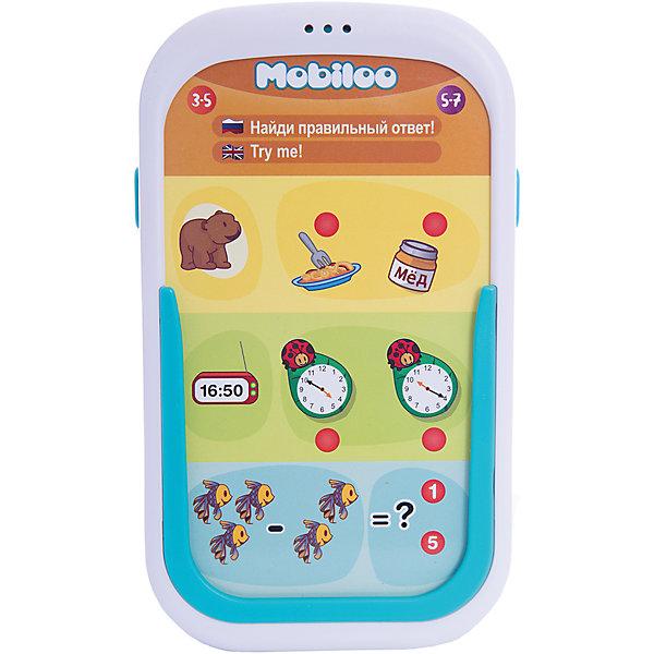 Планшет Mobiloo,  ZanZoonДетские гаджеты<br>Планшет Mobiloo,  ZanZoon - увлекательная интерактивная игра для детей со множество обучающих и развивающих функций. С этим оригинальным говорящим планшетом ребенок сможет изучить буквы, цифры, цвета и формы фигур, а так же научится правильно определять время и выстраивать логические цепочки. В планшете предусмотрено 2 уровня сложности: от 3 до 5 лет и от 5 до 7 лет, что позволит родителям легко варьировать сложность обучения ребенка.<br><br>120 увлекательных заданий сгруппированы по следующим игровым темам: буквы, цифры, цвета, формы, фигуры, логика, время, социум. Планшет на двух языках (русский, английский), в комплект также входят 24 двухсторонние карточки. Громкость звука планшета можно регулировать. <br><br>Дополнительная информация:<br><br>- Требуются батарейки: 3 х ААА (не входят в комплект).<br>- Материал: пластик, картон.<br>- Размер упаковки: 20 x 21 x 3,6 см.<br>- Вес: 0,3 кг.<br><br>Планшет Mobiloo,  ZanZoon можно купить в нашем интернет-магазине.<br>Ширина мм: 180; Глубина мм: 35; Высота мм: 200; Вес г: 329; Возраст от месяцев: 36; Возраст до месяцев: 168; Пол: Унисекс; Возраст: Детский; SKU: 3813018;