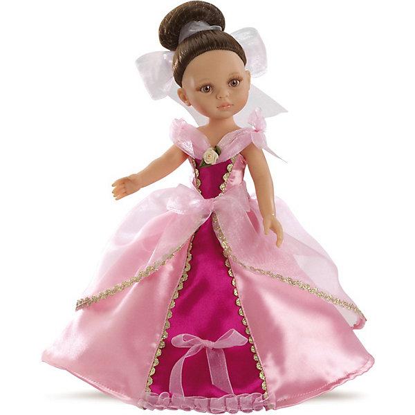 Кукла Кэрол, 32см, Paola ReinaИспанские куклы<br>Кукла Кэрол, 32см, Paola Reina (Паола Рейна) - настоящая принцесса, в очень роскошном, изысканном платье. В платье Кэрол сочетается нежно-розовый и ярко-розовый цвет. Оно декорировано золотой тесьмой и маленькой розочкой на воротнике. Темные волосы Кэрол собраны в элегантный пучок и завязаны белой атласной лентой. Дополняет образ нежный аромат ванили. Кукла имеет уникальный, неповторимый дизайн лица и тела - все мельчайшие делали идеально выполнены и проработаны.<br>Кукла отличается высоким качеством и производится из высококачественного винила без вредных эфирных соединений и безопасна для детей.<br><br>Дополнительная информация:<br><br>- Ручная работа (ресницы, веснушки, щечки, губы, прическа) делает кукол от Paola Reina настолько натуральными, что их лицо выглядит совсем как живое<br>- Ножки, ручки и голова поворачиваются<br>- Глаза не закрываются<br>- Волосы очень похожи на натуральные, они легко расчесываются и блестят<br>- Эксклюзивная одежда из высококачественного текстиля<br>- Материалы: кукла изготовлена из винила, глаза выполнены в виде кристалла из прозрачного твердого пластика, волосы сделаны из высококачественного нейлона<br>- Национальность: европейка<br>- Рост куклы: 32 см.<br>- Упакована в картонную коробку с окошком<br>- Качество подтверждено нормами безопасности EN17 ЕЭС<br><br>Куклу Кэрол, 32см, Paola Reina (Паола Рейна) можно купить в нашем интернет-магазине.<br>Ширина мм: 120; Глубина мм: 240; Высота мм: 410; Вес г: 708; Возраст от месяцев: 36; Возраст до месяцев: 144; Пол: Женский; Возраст: Детский; SKU: 3816416;