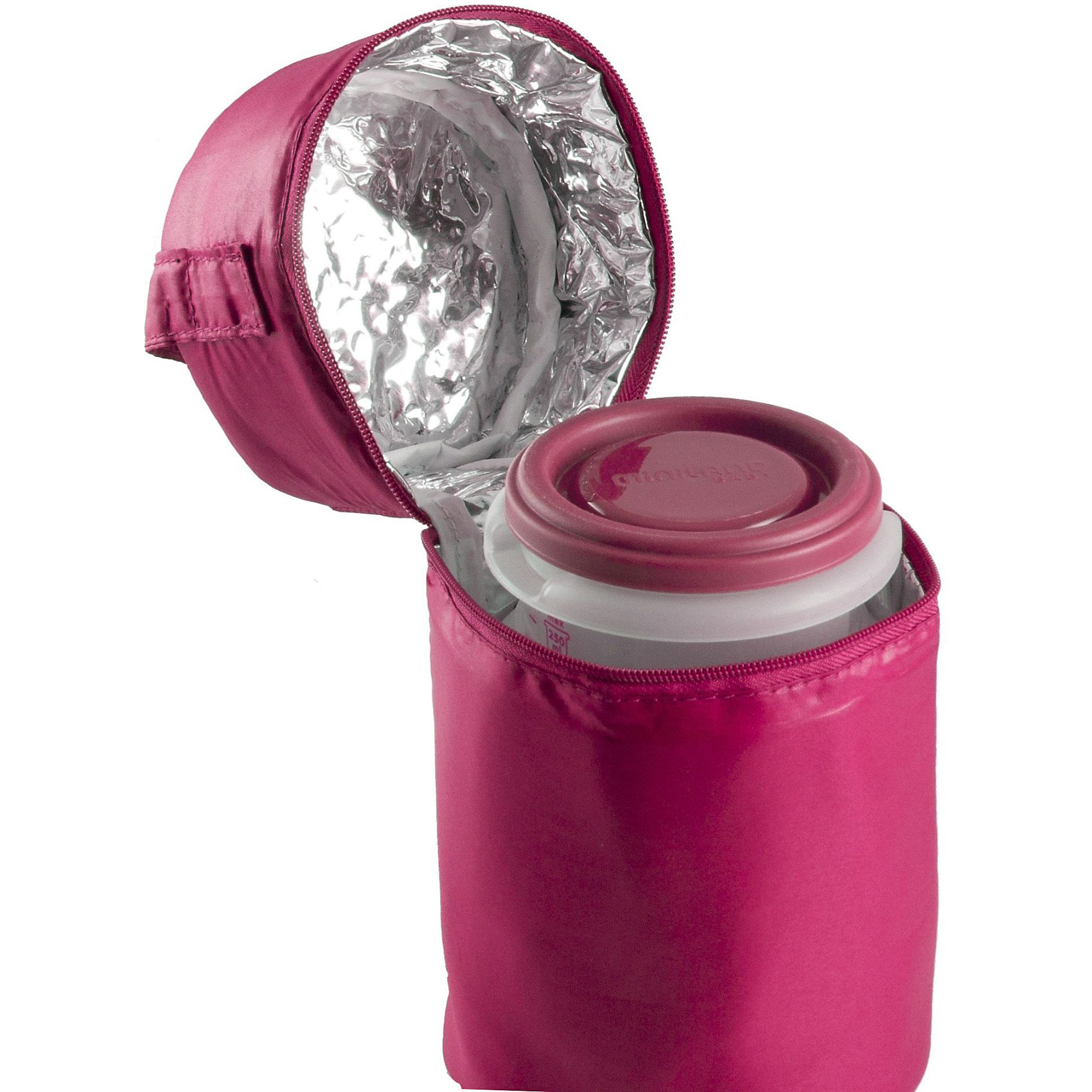 Термосумка с 2-мя мерными стаканчиками, HERMISIZED, розовый (Miniland)