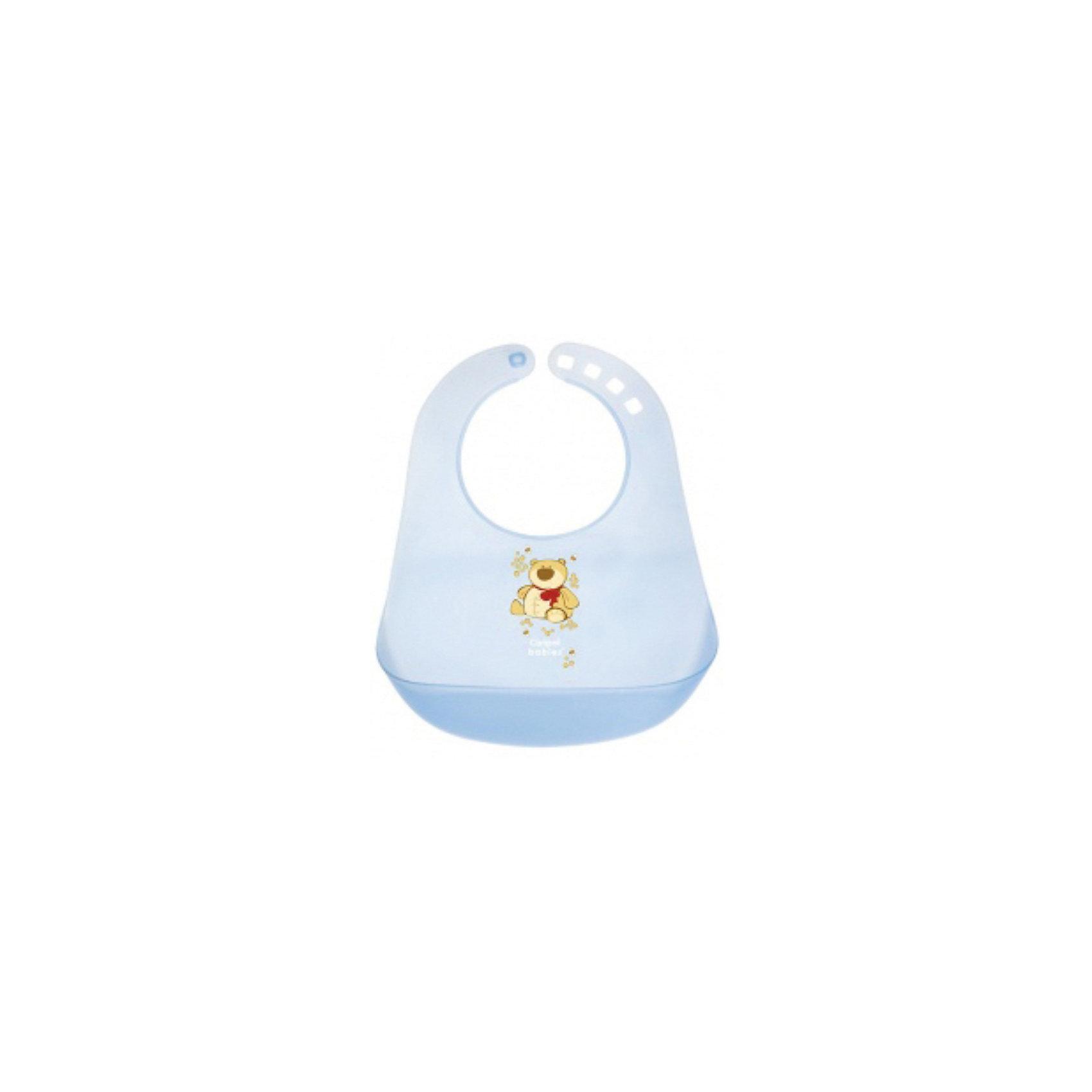 Пластиковый нагрудник, Canpol Babies, голубой