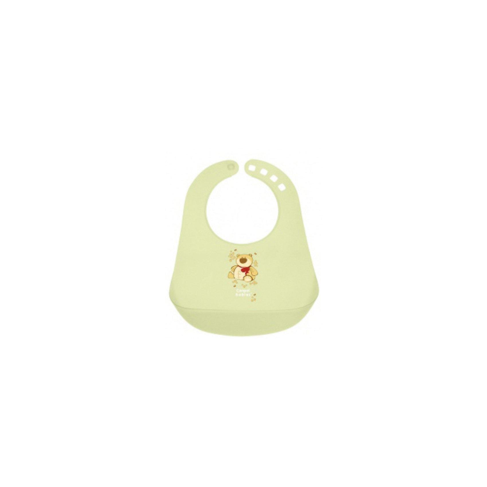 Пластиковый нагрудник, Canpol Babies, зеленый