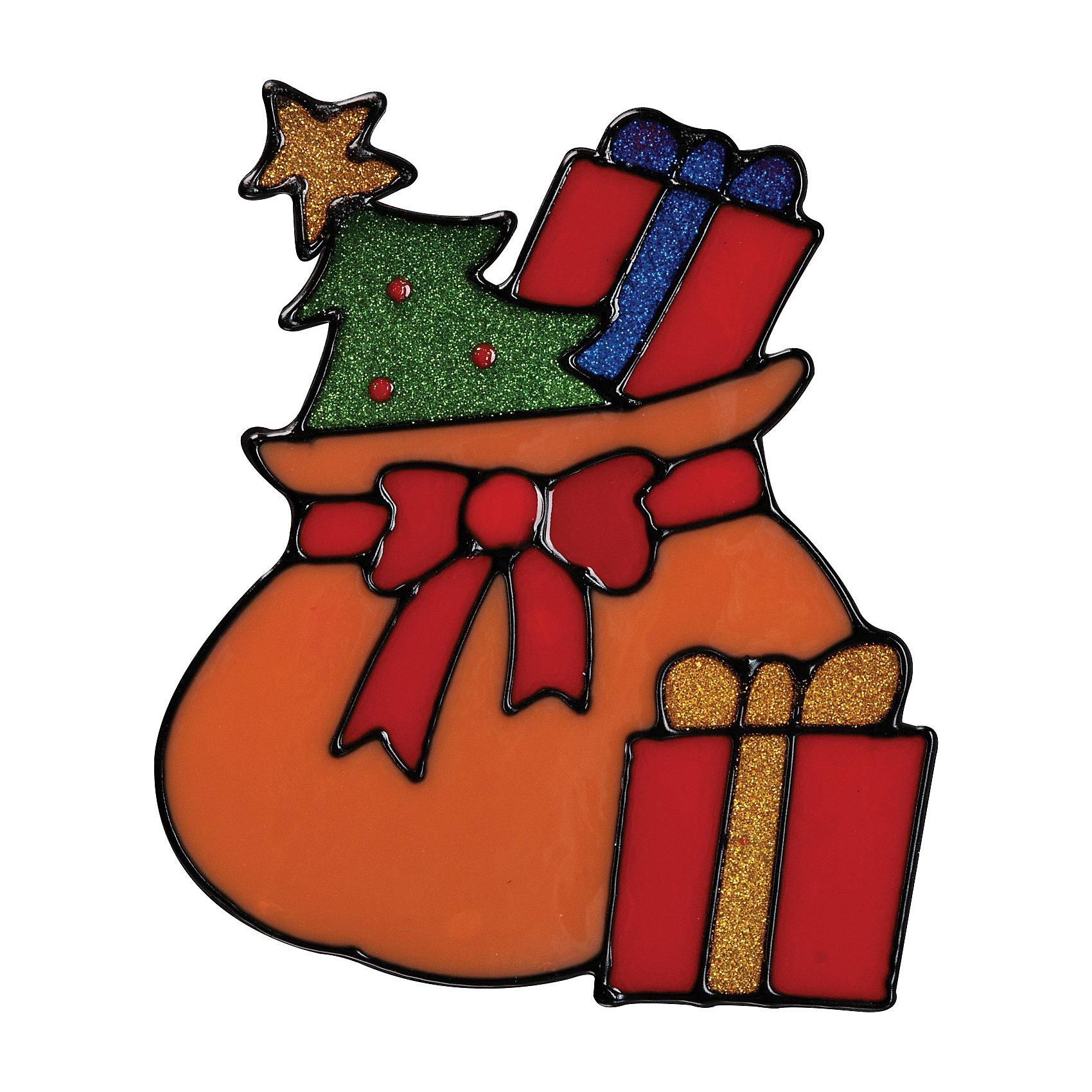Мешок с подарками открытка
