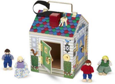 Melissa & Doug Игровой набор Melissa&Doug «Создай свой мир. Дом с замками», звук