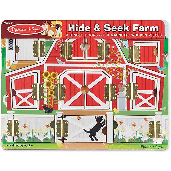 Магнитная игра Ферма Melissa &amp; DougОзнакомление с окружающим миром<br>Магнитная игра Ферма, Melissa &amp; Doug  надолго увлечет Вашего малыша, ведь на ней целых девять дверок за которыми прячутся очаровательные животные на магнитах. Малыш будет в полном восторге, когда все животные займут свои места и можно будет закрывать дверки. Яркая и занимательная доска выполнена из натуральных материалов и играть с ней могут даже самые маленькие дети. Занятия с магнитной игрой Ферма развивают мелкую моторику рук, воображение и логическое мышление. Просто развлекаясь, ребенок сможет  научиться распознавать цвета, животных и многое другое! Играйте и наслаждайтесь вместе с  Melissa &amp; Doug!<br><br>Дополнительная информация:<br><br>-  Способствует развитию мелкой моторики, воображения, логического мышления;<br>- Потрясающие подарок  даже для самых маленьких;<br>- В отверстия необходимо вставлять магнитные карточки с животными;<br>- Красочный дизайн;<br>- Материал: натуральное дерево, металл, безопасные краски;<br>- Размер упаковки: 31 х 10 х 24 см;<br>- Вес: 770 г<br><br>Магнитную игру Ферма, Melissa &amp; Doug  можно купить в нашем интернет-магазине.<br>Ширина мм: 310; Глубина мм: 10; Высота мм: 240; Вес г: 770; Возраст от месяцев: 36; Возраст до месяцев: 60; Пол: Унисекс; Возраст: Детский; SKU: 3861960;