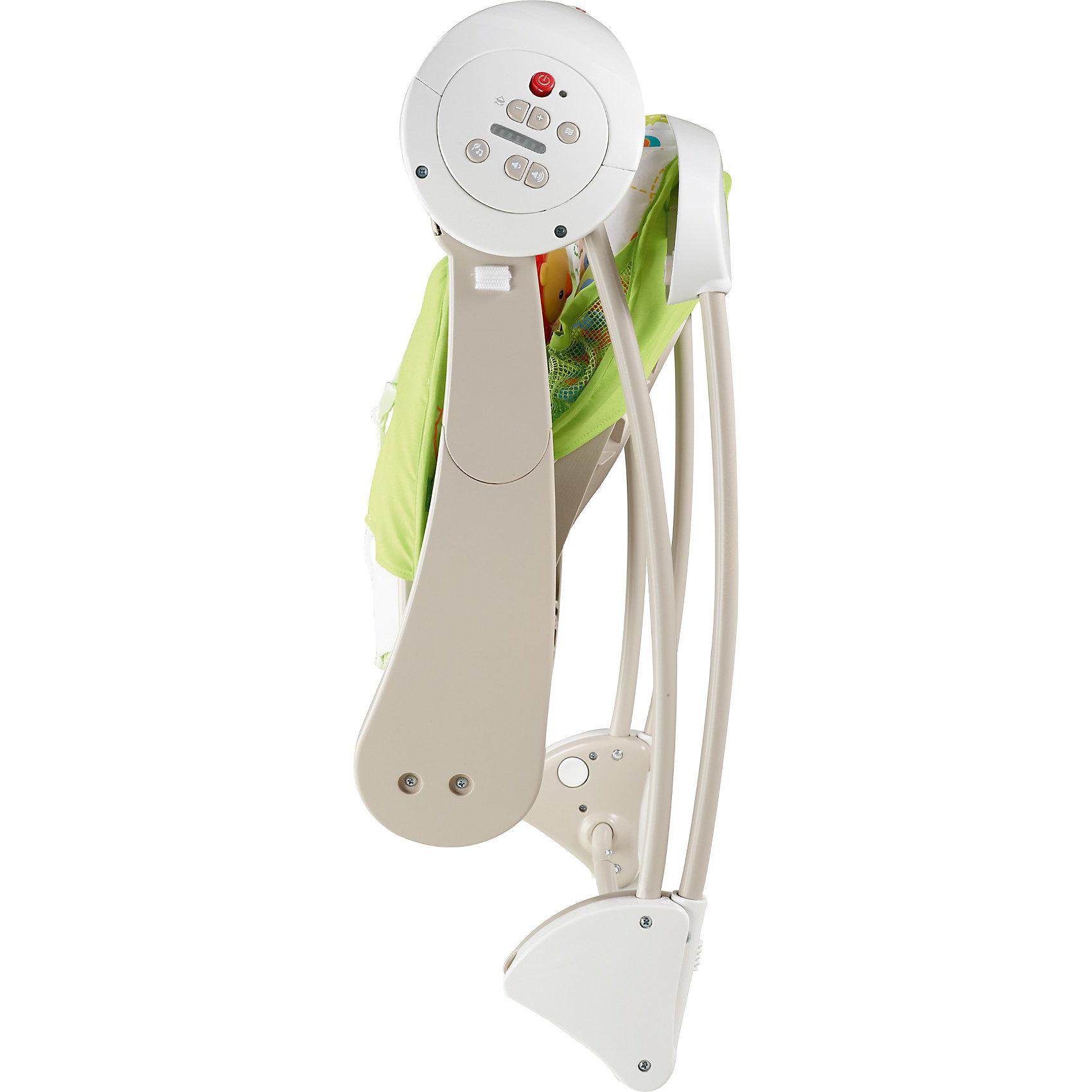 Переносное кресло-качели Друзья из тропического леса, Fisher-price (Mattel)
