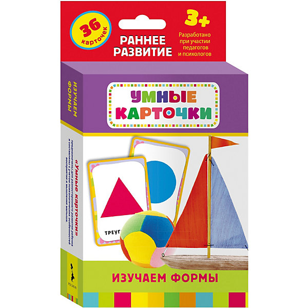 Купить Развивающие карточки Изучаем формы (3+), Умные карточки, Росмэн, Россия, Унисекс