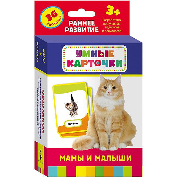 Купить Развивающие карточки Мамы и малыши (3+), Умные карточки, Росмэн, Россия, Унисекс