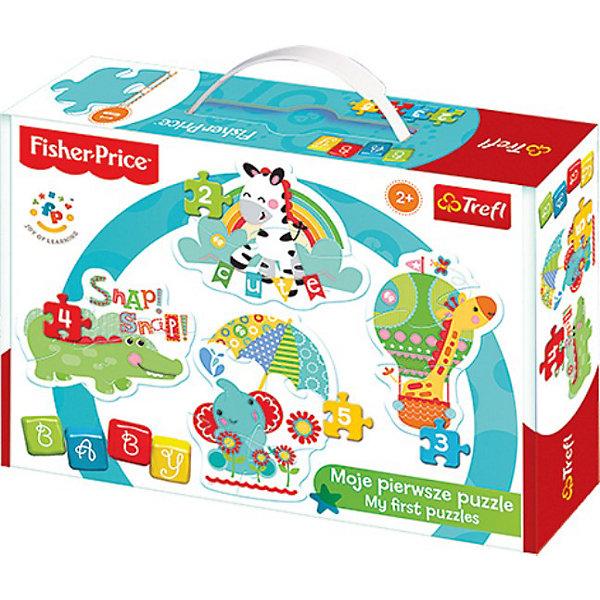 Trefl Пазлы Дикие животные 1, Trefl step puzzle пазл для малышей дикие животные 4 в 1