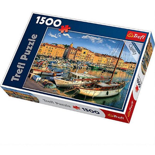 Trefl Пазл Старый порт Сен-Тропе, 1500 деталей, Trefl trefl набор пазл веселье 80 деталей с мобильным приложением trefl