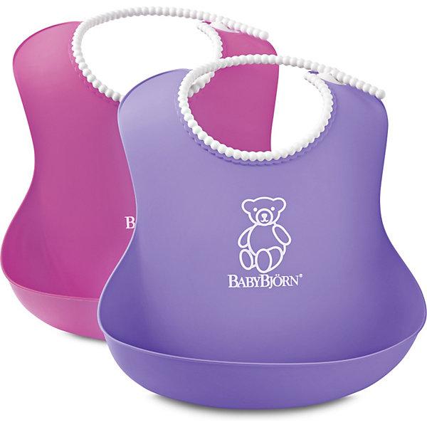 Комплект из 2-х нагрудников, BabyBjorn, розовый/фиолетовыйНагрудники и салфетки<br>Мягкие нагрудники с карманом BabyBjorn (БэйбиБьёрн) - функциональные и удобные нагрудники для активных детишек!<br>Мягкие нагрудники с карманом помогут провести процесс кормления ребенка в чистоте. Нагрудники имеют эргономичную форму и глубокий карман для улавливания пищи. Горловина нагрудников имеет мягкую поверхность и не царапает шею малыша, а замочек легко застегивается на нужную длину.<br><br>Дополнительная информация:<br><br>- регулируемая застёжка<br>- глубокий кармашек спереди<br>- можно мыть в посудомоечной машине<br>- материал: полипропилен (ПП) и термоэластопласт (ТЭП).<br>- Размер горловины: от 19 до 30 см<br><br>Комплект из 2-х нагрудников, BabyBjorn, розовый/фиолетовый можно купить в нашем магазине.<br>Ширина мм: 60; Глубина мм: 40; Высота мм: 215; Вес г: 149; Возраст от месяцев: 6; Возраст до месяцев: 36; Пол: Женский; Возраст: Детский; SKU: 3888126;