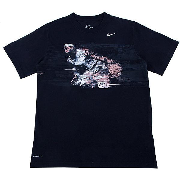 NIKE Футболка для мальчика LEBRON HERO TD TEE YTH NIKE футболка для мальчика puma classics tee b цвет черный 852296017 размер 128