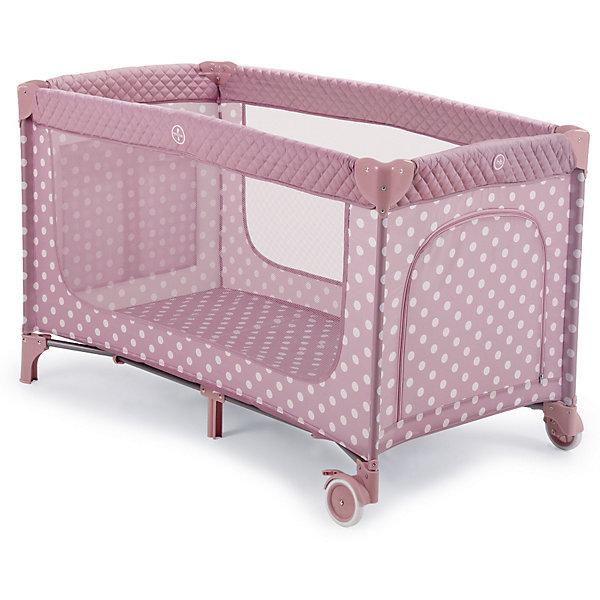 Happy Baby Манеж-кровать Martin, Happy Baby, розовый манеж baby care rainbow ро2 f