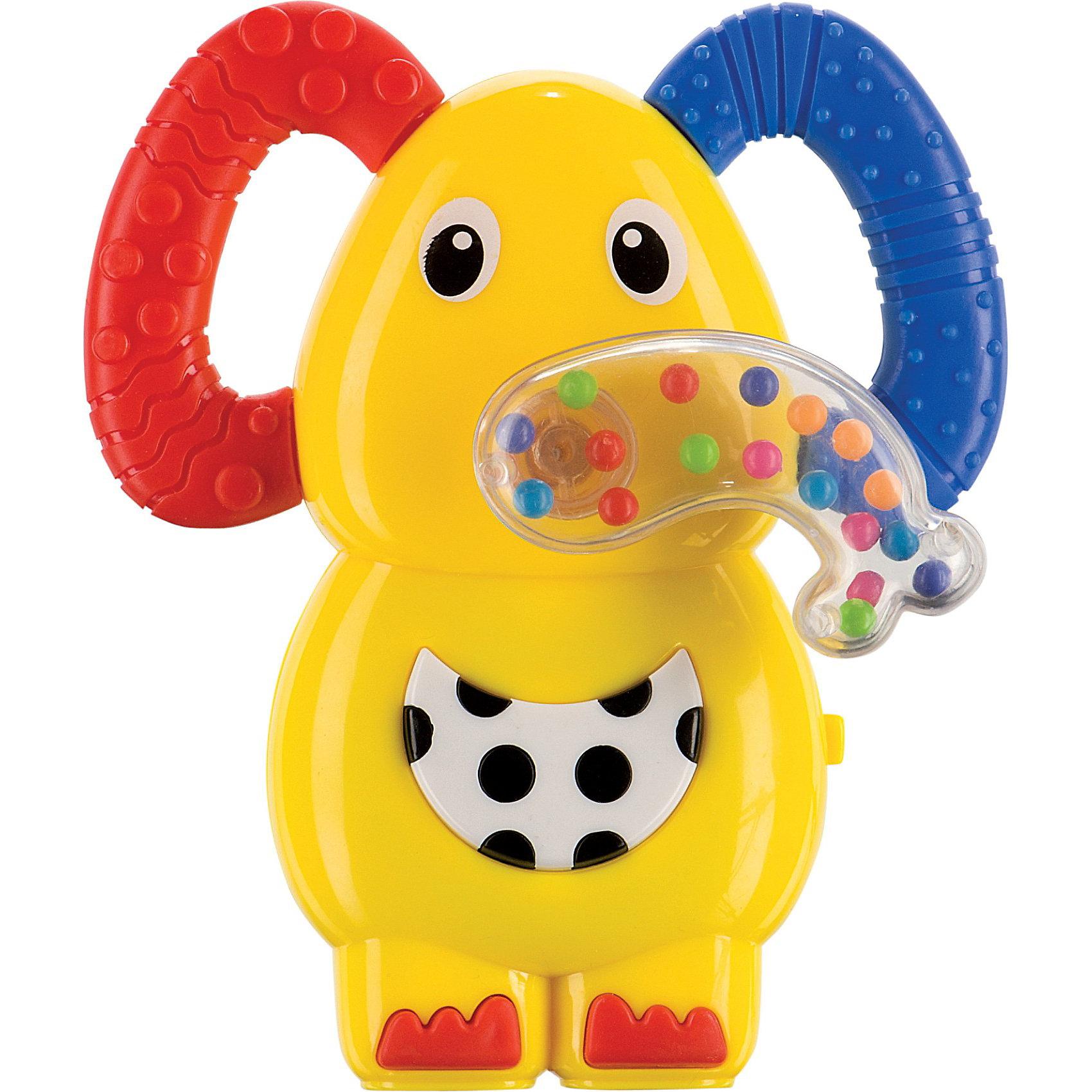Музыкальная погремушка прорезыватель Слоненок,  Happy Baby