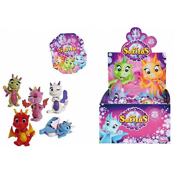 Фигурки дракончиков Safiras, 4 стихии, SimbaКоллекционные и игровые фигурки<br>Фигурки дракончиков Safiras, 4 стихии, в ассортименте, Simba (Симба) - это лучший подарок для малышей, ведь им так нравятся сюрпризы.<br>Фигурка дракончика Safiras. 4 стихии от компании Simba - это игрушка-сюрприз. В закрытом непрозрачном пакетике прячется маленький пяти-шестисантиметровый дракончик. Он изготовлен из флокированного пластика, который немного напоминает на ощупь бархат. Вы узнаете, какую фигурку получили, только когда откроете пакетик. К каждой игрушке прилагается карточка с описанием. Всего может быть 17 видов дракончиков, каждый из которых принадлежит к одной из четырех стихий: земли, воздуха, огня или воды. И только самый редкий экземпляр, по имени Драки, относится к теневым драконам. Попытайтесь собрать всю коллекцию, обмениваясь повторными фигурками с друзьями!<br><br>Дополнительная информация:<br><br>- В комплекте: 1 фигурка, буклет, карточка героя<br>- Материал: пластик, флок<br>- Высота фигурки: 5-6 см.<br>- Упаковка: фольгированный пакетик.<br>- ВНИМАНИЕ! Данный артикул представлен в разных вариантах исполнения. К сожалению, заранее выбрать определенный вариант невозможно. При заказе нескольких фигурок возможно получение одинаковых<br><br>Фигурки дракончиков Safiras, 4 стихии, в ассортименте, Simba (Симба) можно купить в нашем интернет-магазине.<br>Ширина мм: 145; Глубина мм: 124; Высота мм: 25; Вес г: 16; Возраст от месяцев: 36; Возраст до месяцев: 72; Пол: Женский; Возраст: Детский; SKU: 3930043;