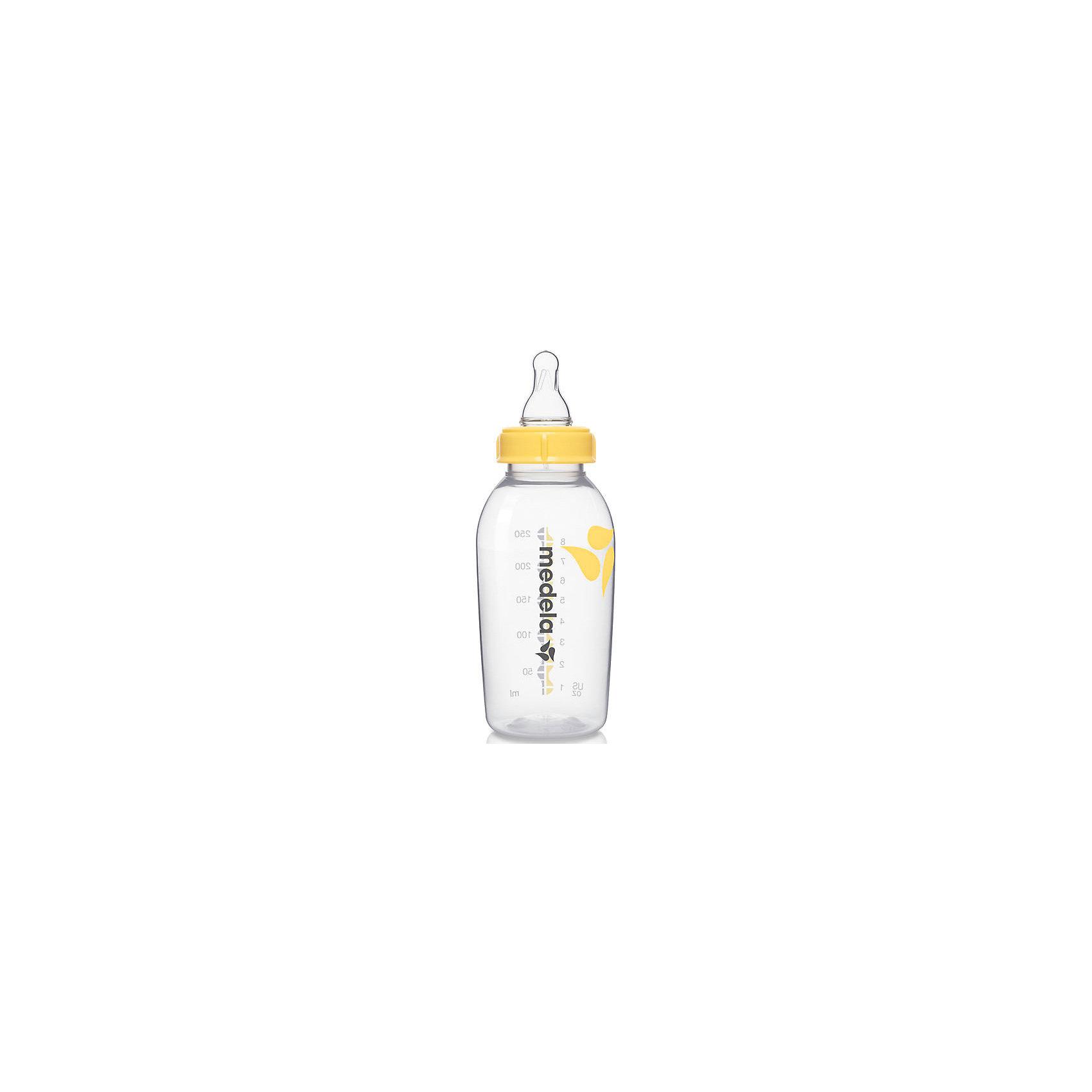 Бутылочка для сбора грудного молока с соской, 250 мл, Medela
