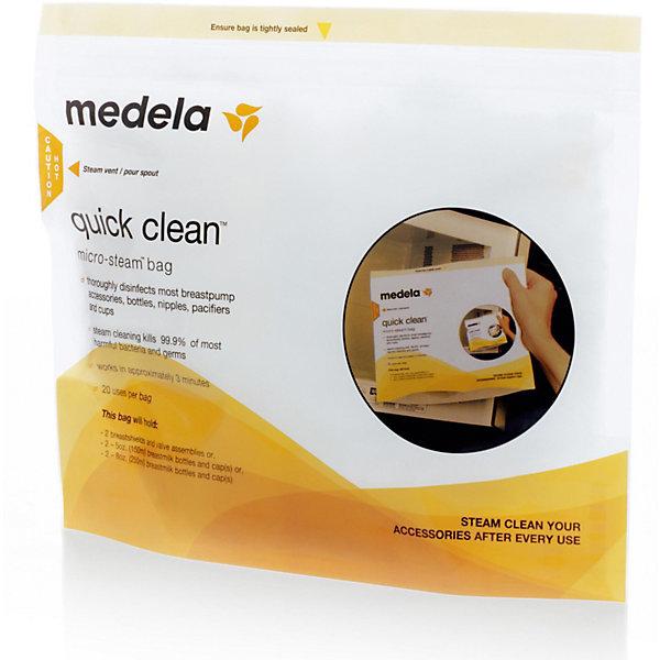 цена на Medela Пакеты Quick Clean для стерилизации в микроволновой печи. 5 шт/уп, Medela